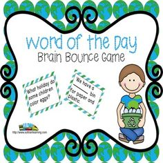 Last Day of March Madness SALE, Mar.26.This great vocabulary game is based on words from our April Word of the Day calendar. It is one of our new Brain Bounce games to help your kiddos practice ELA skills. The teacher can divide the class into 2 teams and have the kids take turns answering questions about these vocabulary words. You can also use these cards in a center or as a Scoot game.  30 question cards #ELA#vocabulary#April#game#teaching ideas#TPT#education