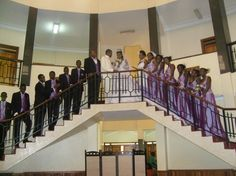 Wedding of Princess Ruth Komuntale and Christopher Thomas with the bridesmaids and groomsmen on 17 Nov 2012