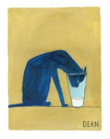 Pete the Cat drinking milk