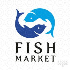 Logo shows a symbol created from two fish, similar to Japanese Koi Fish . Two shades of blue color are used for icon. Koi fish typically symbolize good luck and fortune or person's aspirations to improve themselves. This logo is ideal for restaurant specialized in serving dishes made from fish and sea food. It can be also used for exotic fish importer, sea food market, fish market, sushi or Asian cuisine restaurant, fishing store, canned fish producer.