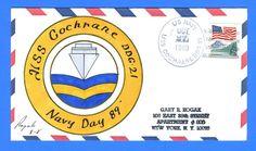 USS Cochrane DDG-21 Navy Day Oct 27, 1989 - Rogak Cachet