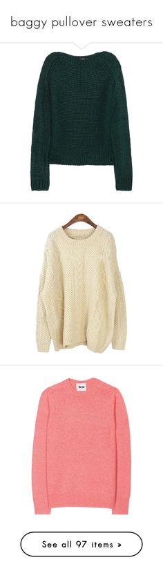 """""""baggy pullover sweaters"""" by nevillelongbottom ❤ liked on Polyvore featuring tops, sweaters, shirts, jumpers, green, cut loose shirt, long sleeve jumper, loose fit shirt, long sleeve tops and green shirt"""