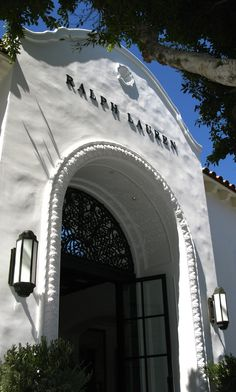 Get in the mood for the Emmys with a visit to the Ralph Lauren Robertson boutique inspired by the romantic style of the Mission architecture of the '20s with a touch of the Chateau Marmont interior aesthetic