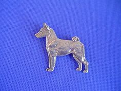 Pewter Basenji Standing Pin Sighthound Dog Jewelry by Cindy A. Dog Jewelry, Pewter, Moose Art, Carving, Sculpture, Dogs, Artwork, Pictures, Stuff To Buy