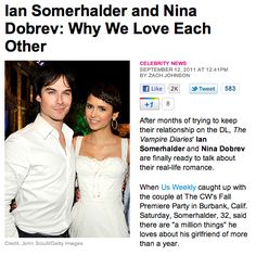 ian somerhalder dating nina dobrev