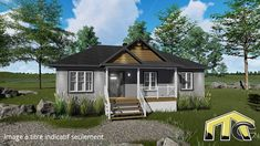 One Story Homes, First Story, Shed, Outdoor Structures, Cabin, House Styles, Home Decor, House Foundation, Lunch Room