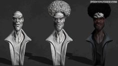 Afro Biker by pointpusher. Another Biker for my workshop.  Moving on to Dinosaurs now.