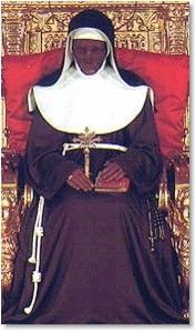 St. Catherine of BolognaDied in 1463 and has been incorrupt and on display in an upright position for over 500 years.