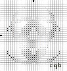 Free Ancient Symbols Cross Stitch Charts: Free Triple Crescent Cross Stitch Pattern
