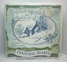 coops cluttered corner: Stampendous Snowy Postcard for a winter birthday