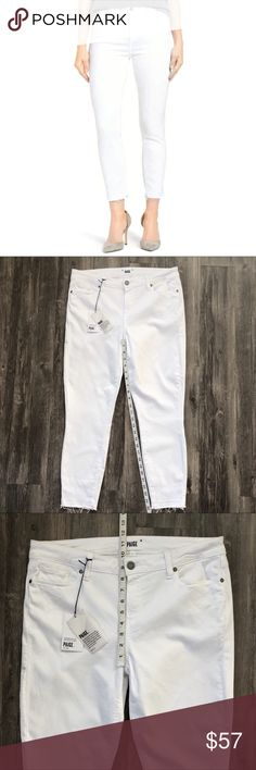 3855517e PAIGE Verdugo Crop White Skinny Jeans! PAIGE Verdugo Crop White Skinny Jeans!  Beautiful white