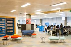 Peldon Rose Gives JustGiving Brand New, Multifunctional Offices, Reusing Floor Tiles as Acoustic Treatment