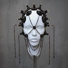 Couture – House of Malakai Egyptian Headpiece, Headdress, Goth Costume, Costumes, Body Adornment, Hair Decorations, Unusual Jewelry, Mask Design, Headgear