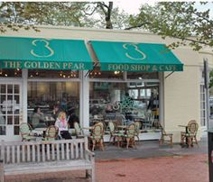 The Golden Pear Cafe. They have locations in Southampton, Bridgehampton, East Hampton and Sag Harbor. Hampton Restaurant, Miele Coffee Machine, Coffee Withdrawal, East Hampton, Hampton Style, Beach Houses For Rent, Westhampton Beach, Shelter Island, Long Island Ny