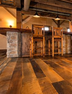 In the market for a few of our most rustic wide plank wooden flooring ideas? Reclaimed Hardwood Flooring, Rustic Wood Floors, Barn Wood, Hardwood Floors, Unique Flooring, Wide Plank Flooring, Slate Flooring, Flooring Ideas, Flooring Types
