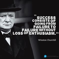 Winston Churchill quote about success #winstonchurchill #quote