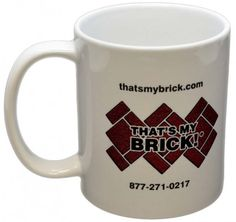 Our color imaging technology allows to reproduce your custom logos on our 11oz white coffee mugs. Whether for companies, sports teams, schools, or any other organization, all we need is a high resolution file of your logo and we can image it on our mugs. Just $13.99