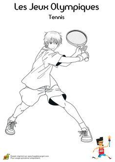 Coloriage d'un excelent joueur de tennis