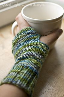 Another fingerless glove pattern to knit with hand-dyed yarn