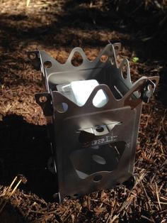 LIGHT & ULTRALIGHT BACKPACKING: Emberlit FireAnt Three-Fuel Folding Titanium Stove (2.8oz)
