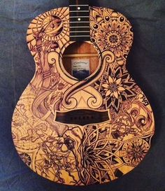 Acoustic Guitar Art on Gumtree. Absolutely Unique Guitar Art. Excellent sound. The guitar is originally a Tanglewood Model TWRO,