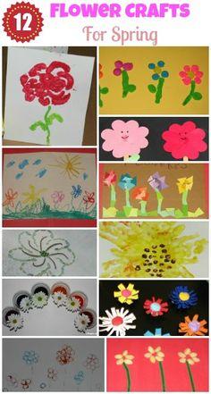Flower Crafts For Spring - remember to keep them open-ended & enjoy the children's interpretations of Springtime flowers!