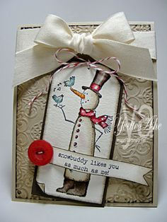 Sweet Snowbuddy Likes You Card...
