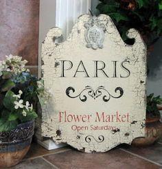 Paris Flower Market stencil ~ Maison de Stencils: Feature Friday: The Backporch Shoppe Signs