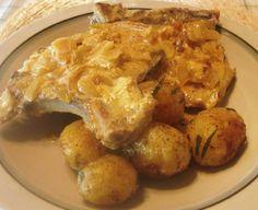 Helpot porsaankyljykset kermakastikkeessa Meat, Chicken, Food, Essen, Meals, Yemek, Eten, Cubs