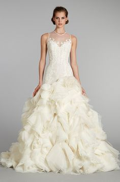 #wedding dress from Lazaro, Fall 2012