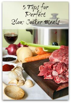 5 tips for perfect slow cooked food