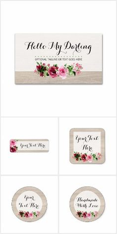 Hello My Darling on @zazzle #Vintage #Shabby #Boutique #Roses #Farmhouse #Vintage #Rustic #Wood #Handmade #Business #SmallBusiness #Branding #Marketing