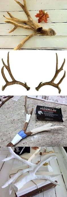 : How to make Faux Deer Antlers! Once you know the basic idea, you can make yourself unique horns for a Halloween costume!!