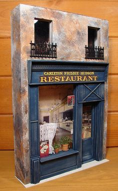 All sizes   Store Front Facade, 1:12 Scale Miniature   Flickr - Photo Sharing! (Interesting place to eat and drink. Like the nets!)