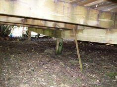 This is what happens to your deck if proper footers are not installed. #DeckSafety #ImproperSupport #HomeInspection