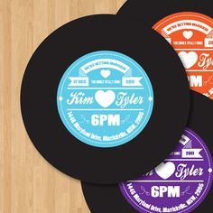custom designed record label - they make the image, you print