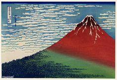 Mount Fuji by Hokusai Vintage Druck, Reproduction of Japanese Art, yoko-e, Antique illustration, Fine Art Museum Paper Japanese Prints, Japanese Art, Traditional Japanese, Vintage Japanese, Monte Fuji, Wall Art Prints, Canvas Prints, Canvas Art, Great Wave Off Kanagawa