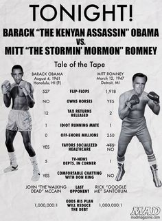 Comparativa cómica Obama-Romney