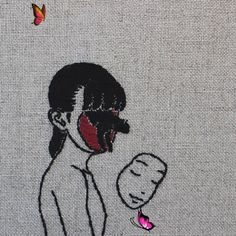 Embroidery Art By Adipocere | Art | ARTWOONZ Embroidery Art By Adipocere. Adipocere is the nick name of Australian artist John Continue Reading and for more Embroidery art → View Website  #handcraft #handcraftideas #handcraftsforadults #creativeart #creativeideas #embroidery#embroiderypatterns #embroiderydesigns #embroideryideas #embroideryart #embroideryaesthetic #art #artwork #arts #handcrafted #landscapeart #handmadeart #handmadeartideas #embroideryartist #fineart #handembroidery #cat… Grunge Goth, Soft Grunge, Style Grunge, Fotografia Grunge, Grunge Outfits, Arte Peculiar, Illustrations, Illustration Art, Arte Horror