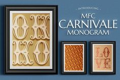 MFC Carnivale Monogram by Monogram Fonts Co. on @creativemarket