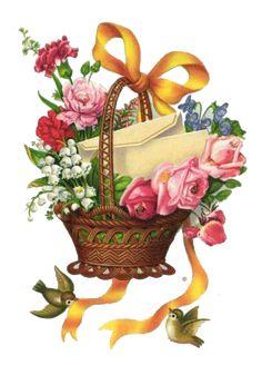 Vintage Postcards, Vintage Cards, Antique Wallpaper, Victorian Valentines, Cartoon Flowers, Beautiful Flowers Wallpapers, Decoupage Vintage, Rose Design, Flower Wallpaper