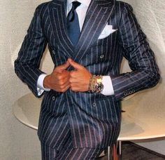 Blue pinstripe suit - Scott Disick
