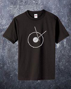 Mens Tee Organic Black Snare Drum by badbatdesigns on Etsy, $20.00