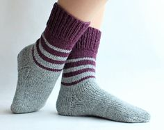 Hand knit socks women Knit women socks knitting Wool socks for her Knit womens socks Winter warm socks casual Gift for wife Gift for women Easy Knitting, Knitting For Beginners, Knitting Socks, Knitting Wool, Knitting Needle Storage, Wool Socks, Knitted Bags, Baby Knitting Patterns, Etsy