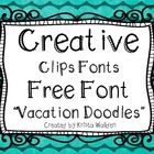 Snatch up this fun font for {Free}! This font works best for title pages and larger labels so you can see the doodle details :)  You may use this f...