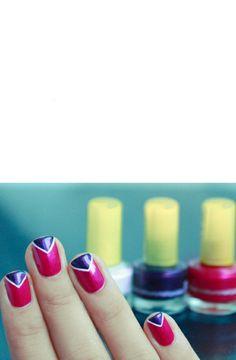 Triangle nail art :)