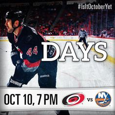 54bc284d0 44 days until the #Canes take on the Islanders at PNC Arena! #Canes101014