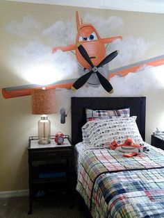 Planes room I painted in Orlando for designer Tanya McCulloch.