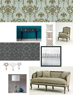 Inspiracje dla pięknego domu: kolaż konkursowy z produktami ze sklepu Decolor.pl; autor: Marta Drob
