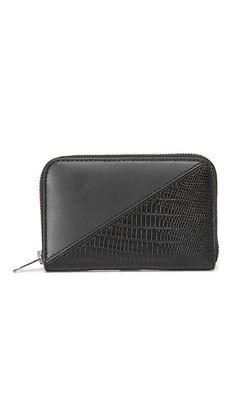 Alexander Wang Mini Dime Patchwork Compact Wallet